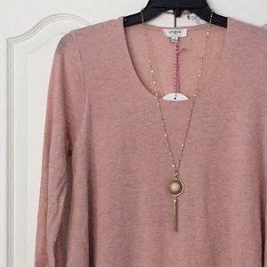 Umgee blush sweater tunic